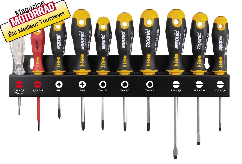 Tournevis ergonic sur rack jeu de 10 plat cruciforme - Meilleur marque outillage ...