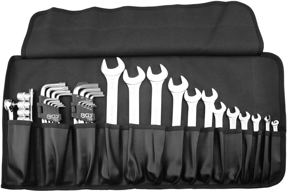 rouleau outils en pouce avec les outils trousse. Black Bedroom Furniture Sets. Home Design Ideas