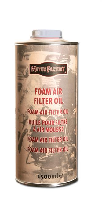 Huile pour filtre air d 39 aspiration de moto en mousse bidon motor factory - Huile de friture qui mousse ...